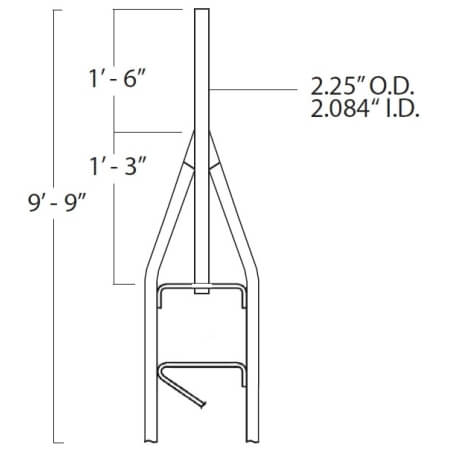 Original Image: ROHN 9.75 ft. Standard Top Section for 25G Guyed Tower