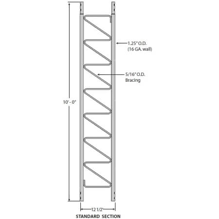 Original Image: ROHN 10 ft. 25G Standard Guyed Tower Section