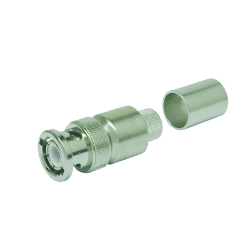 Original Image: Times Microwave Systems – Type BNC-Male (plug) crimp connector (crimp pin) for LMR-400-75, no braid trim