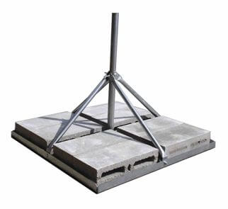 Original Image: ROHN FRM238SP5 Non-Penetrating Roof Mount, Mast 2.38″ O.D., 60″ height