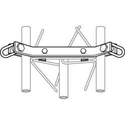 Original Image: ROHN 25G Guyed Tower Bracket Assembly with Hardware