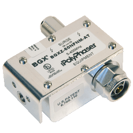 Original Image: PolyPhaser – Hybrid, ±60 Vdc Pass RF Protector