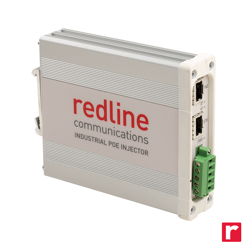 Original Image: Redline – Power Supply DC-DC POE Injector 12/24/48VDC-IN DIN Mnt 2xRJ45