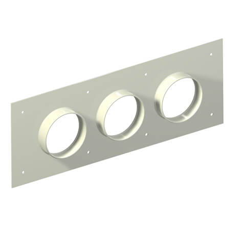 "Original Image: Site Pro – Aluminum Entry Panels 5"" Ports 9.5"" x 25.5"" OD 3 Port"