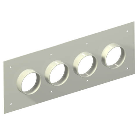 "Original Image: Site Pro – Aluminum Entry Panels 4"" Ports 9.5"" x 25.5"" OD 4 Port"
