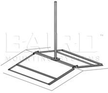 Baird Manufacturing Ss Ridgemount 1 31 Quot Od X 10 Mast W