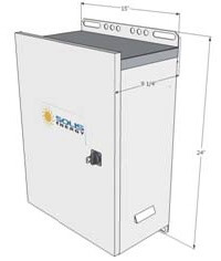 Original Image: Solis Energy – Outdoor UPS 12VDC System Voltage, 20A Power Supply, 70Ah AGM Battery