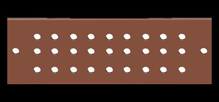 Original Image: 65-ACBB420U – Universal Copper Buss Bar, 4″ x 20″ – AC-LINE